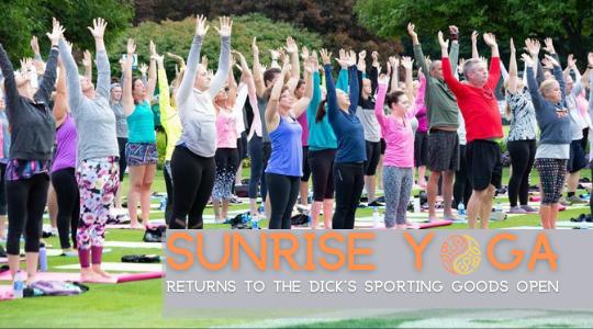 Sunrise Yoga returns to the Dick's Sporting Goods Open